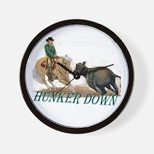 Hunker Down Wall Clock