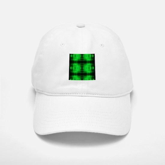 tribal neon green batik Baseball Baseball Cap