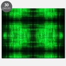 tribal neon green batik Puzzle