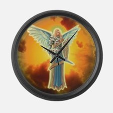 Saint Angel Michael Large Wall Clock