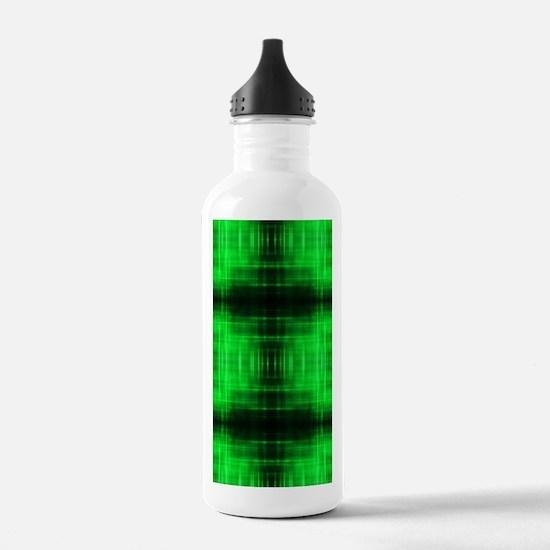tribal neon green bati Water Bottle