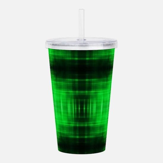 tribal neon green bati Acrylic Double-wall Tumbler