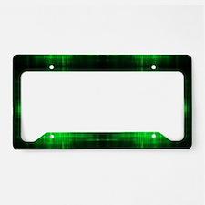 tribal neon green batik License Plate Holder
