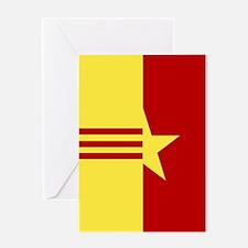 Square Vietnam Unity Flag Greeting Cards