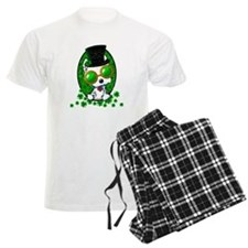 Irish Kiniart Westie Mens Men's Light Pajamas