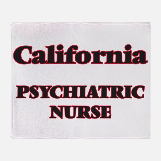 California Psychiatric Nurse Throw Blanket