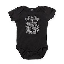 For we wrestle not... Baby Bodysuit