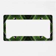 hipster lime green argyle License Plate Holder