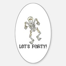 Dancing Skeleton Oval Decal