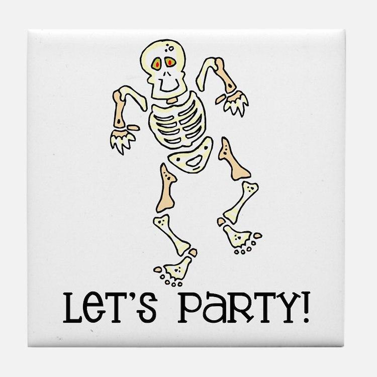 Dancing Skeleton Tile Coaster