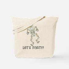 Dancing Skeleton Tote Bag