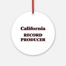 California Record Producer Round Ornament