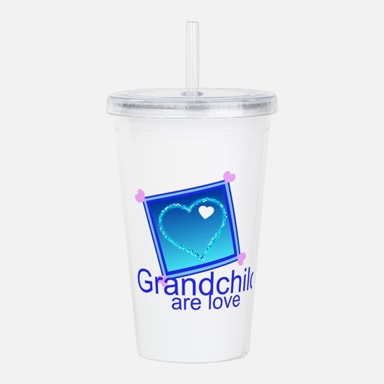 Customize Grandchildre Acrylic Double-wall Tumbler