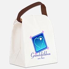 Customize Grandchildren Canvas Lunch Bag