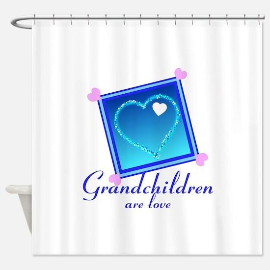 Customize Grandchildren Shower Curtain