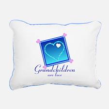 Customize Grandchildren Rectangular Canvas Pillow