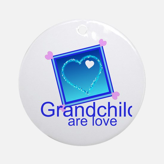 Customize Grandchildren Round Ornament