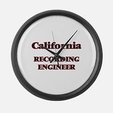 California Recording Engineer Large Wall Clock