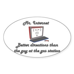 Mr. Internet Maps & Directions Oval Decal