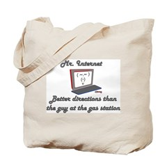 Mr. Internet Maps & Directions Tote Bag