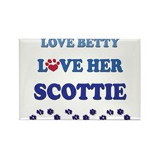 Love Betty Love Her Scottie Rectangle Magnet