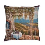 Tuscany Vineyard Everyday Pillow