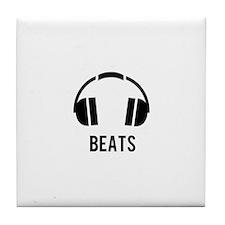 Cute Hip hop beats Tile Coaster