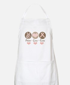 Peace Love Cure Pink Ribbon BBQ Apron