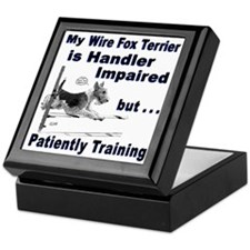 Wire Fox Terrier Agility Keepsake Box