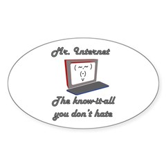 Know it all Oval Decal