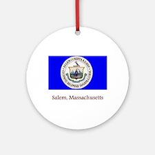 Salem MA Flag Ornament (Round)