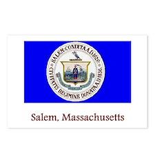 Salem MA Flag Postcards (Package of 8)