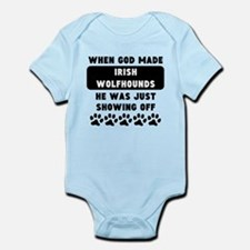 When God Made Irish Wolfhounds Body Suit