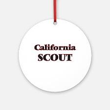 California Scout Round Ornament