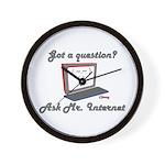 Ask Mr. Internet Wall Clock