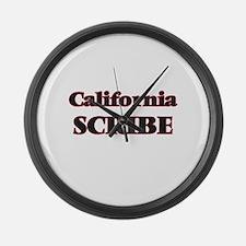 California Scribe Large Wall Clock
