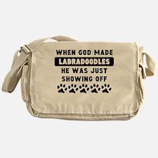 When God Made Labradoodles Messenger Bag