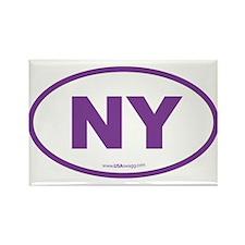 New York NY Euro Oval Rectangle Magnet