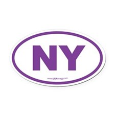 New York NY Euro Oval Oval Car Magnet
