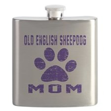 Old English Sheepdog mom designs Flask