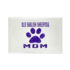 Old English Sheepdog mo Rectangle Magnet (10 pack)
