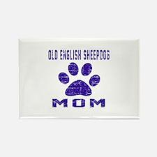 Old English Sheepdog mo Rectangle Magnet (10 pack)