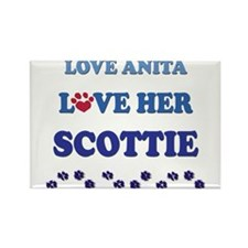 Love Anita Love Her Scottie Rectangle Magnet