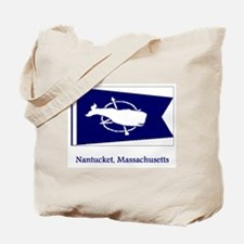 Nantucket MA Flag Tote Bag