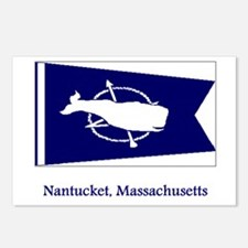 Nantucket MA Flag Postcards (Package of 8)