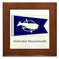 Nantucket MA Flag Framed Tile