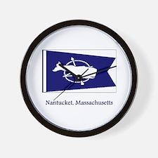 Nantucket MA Flag Wall Clock