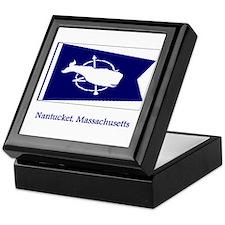 Nantucket MA Flag Keepsake Box