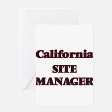 California Site Manager Greeting Cards