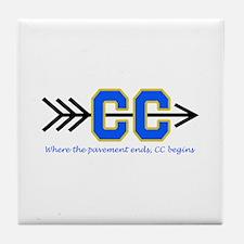 PAVEMENT ENDS APPLIQUE Tile Coaster
